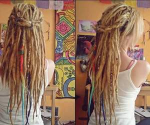 dreadlocks, cabello, and girl image