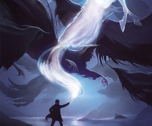 harry potter, hp, and patronus image