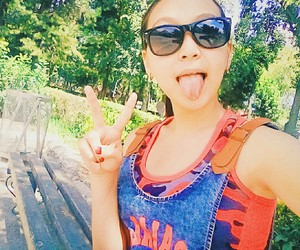 girl, glasses, and summer image