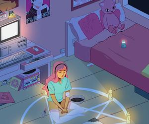 ouija, pink, and satan image