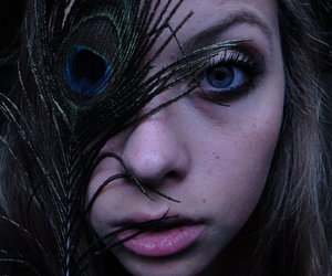edgy, eyes, and feather image