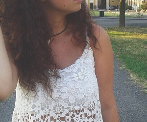 curly hair, girl, and hairstyle image