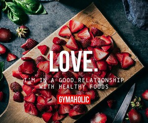 fitness, food, and strawberries image
