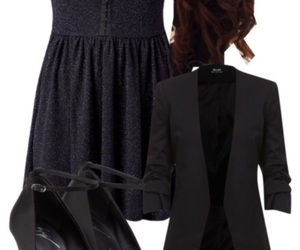 black, formal, and outfit image