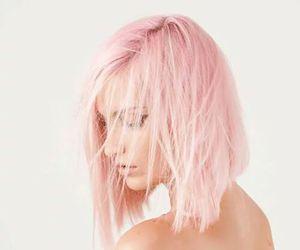 hair, haircut, and pink image
