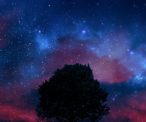 beautiful, night, and space image