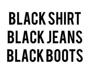 black, jeans, and shirt image