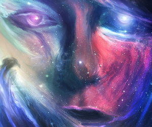face, stars, and art image