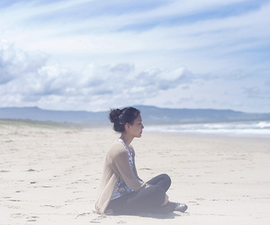 beach, smooth, and peace image