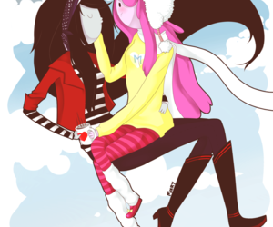 marceline, adventure time, and couple image