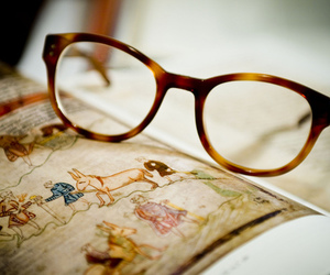 glasses, book, and photography image
