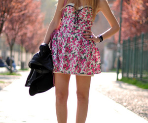 black, dress, and heels image