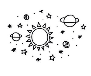 wallpaper, stars, and sun image