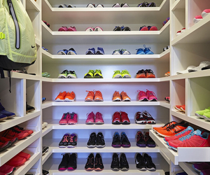 closet, fitness, and shoes image