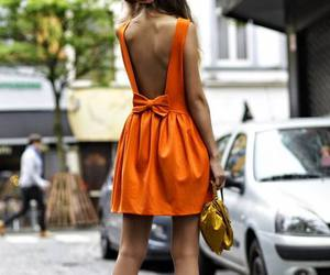 backless, tangerine, and bow image