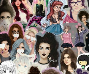 Collage, emotions, and girly image