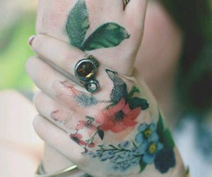 flowers, flores, and tattoo image