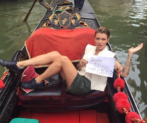 ruby rose, what do you mean, and justin bieber image