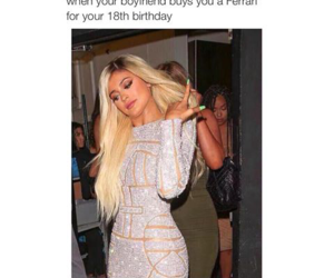 kylie jenner, funny, and ferrari image