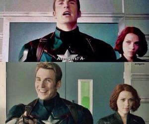 Avengers, black widow, and steve rogers image