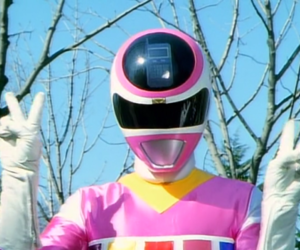 pink and power ranger image