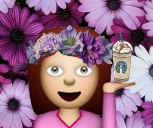 flowers and emoji image
