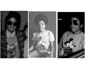king of pop, michael jackson, and mickey mouse image