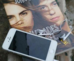 books, headphones, and john green image