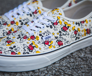 vans, shoes, and mickey image