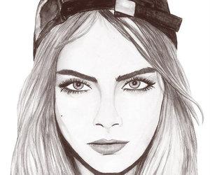 drawing, cara, and art image