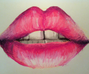 lips, pink, and drawing image