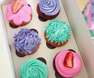 sweet, cupcakes, and food image