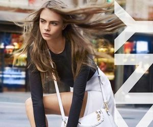 model, cara delevingne, and dkny image
