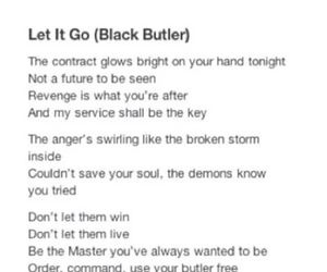 anime, black butler, and let it go image