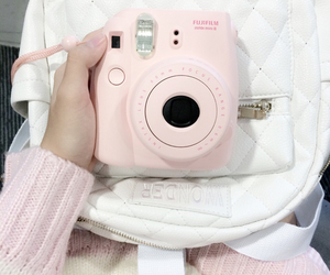 pink, camera, and kawaii image