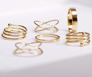 rings, gold, and accessories image