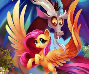 MLP, discord, and fluttershy image