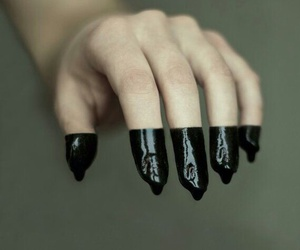 black, fingers, and hand image