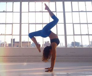 fitness, yoga, and blue image