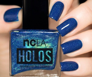 blue, luxury, and nails image