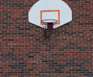 Basketball, hoop, and old image