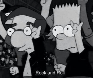 and, rock, and simpsons image