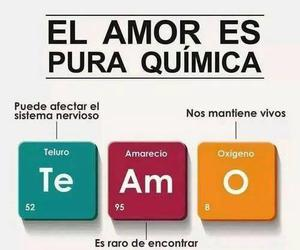 love, quimica, and te amo image