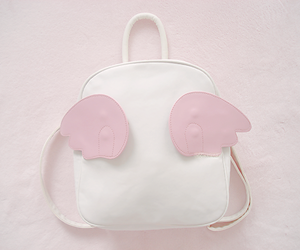 pink, backpack, and pastel image
