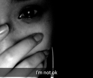 black and white, crying, and girl image