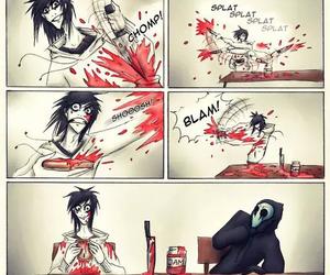 jeff the killer, funny, and creepypasta image