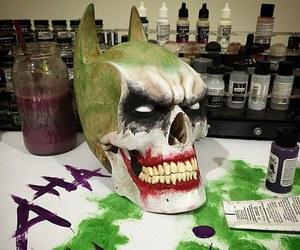 batman, joker, and skull image