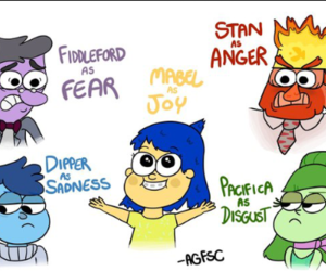inside out, гравити фолз, and gravity falls image