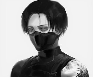 levi, attack on titan, and winter soldier image