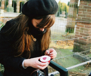 girl, hair, and cupcake image